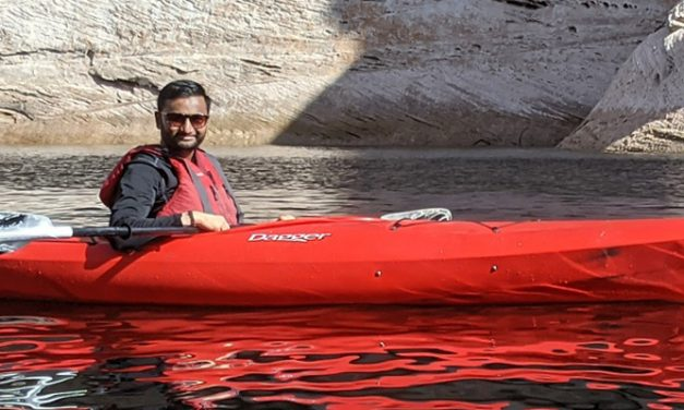 Cool and Dapper on a Kayak Tour